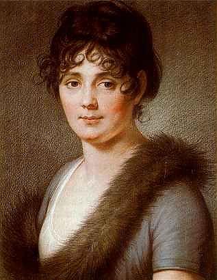 Portraitgemälde der Königin Caroline von Bayern (gest. 1841)