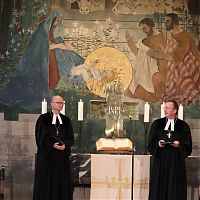 Weihegebet im Festgottesdienst (Regionalbischof Kopp und Dekan Jahnel)
