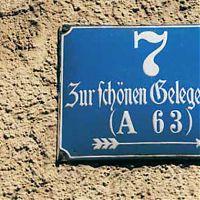 Straßenschild in Regensburg (Ausschnitt)